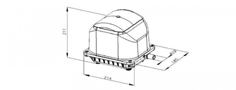 SECOH JDK-S-120 Membraninė orapūtė