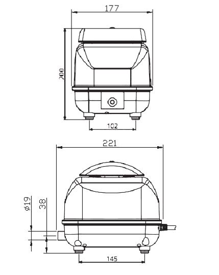 SECOH JDK-40  Membraninė orapūtė